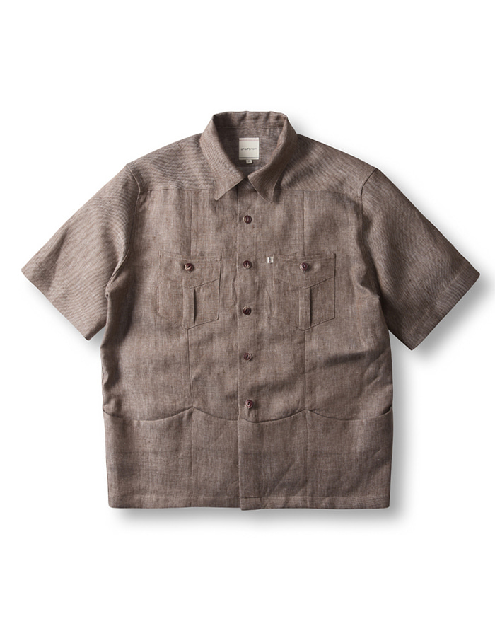 -[CHAD PROM] Overfit Shirket - Brown